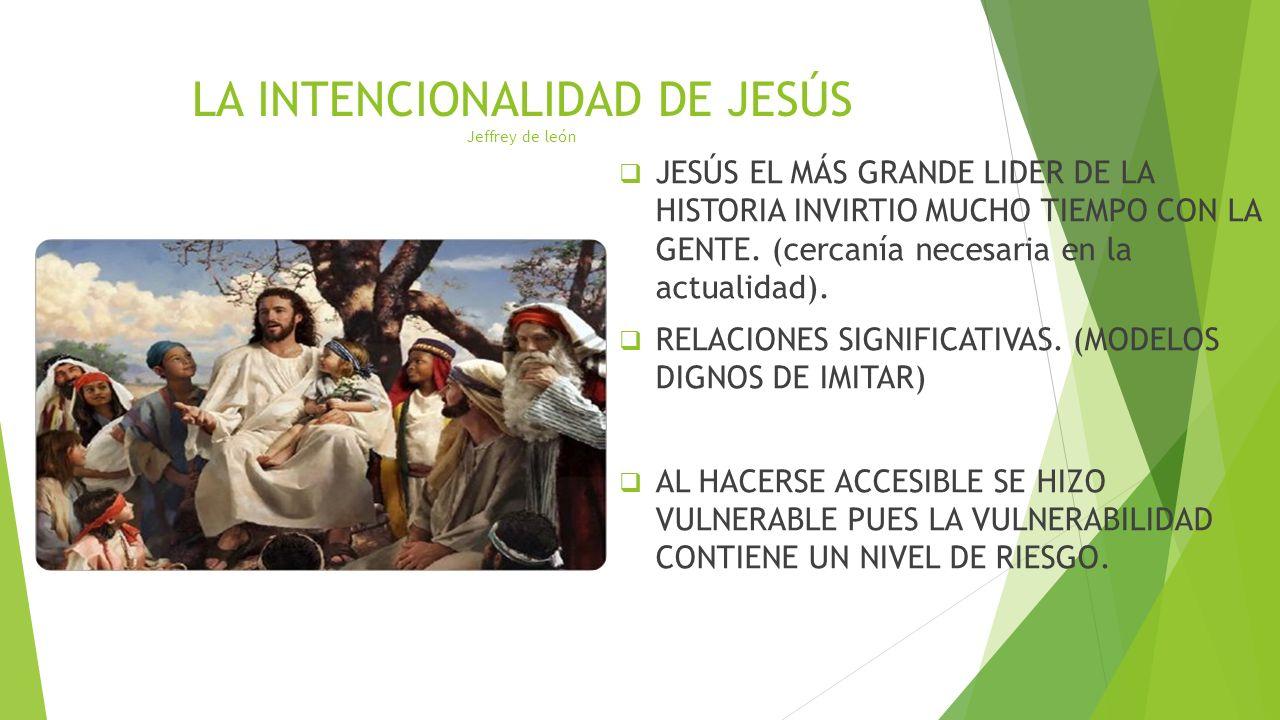 LA INTENCIONALIDAD DE JESÚS Jeffrey de león