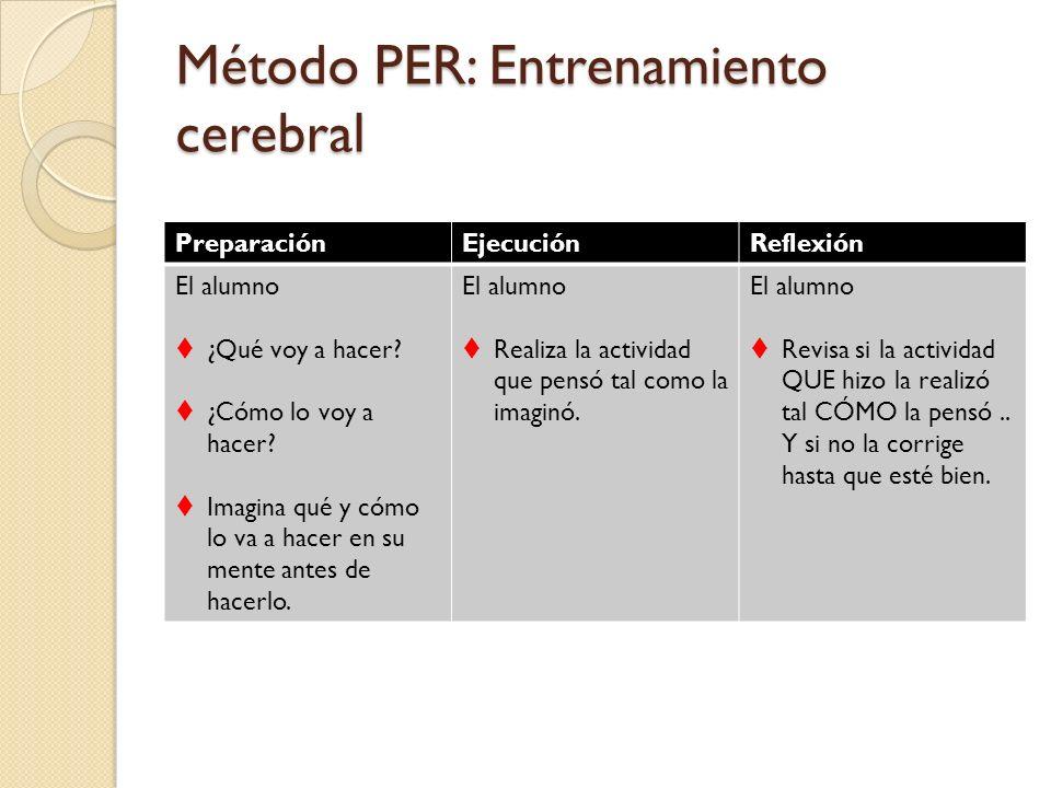 Método PER: Entrenamiento cerebral