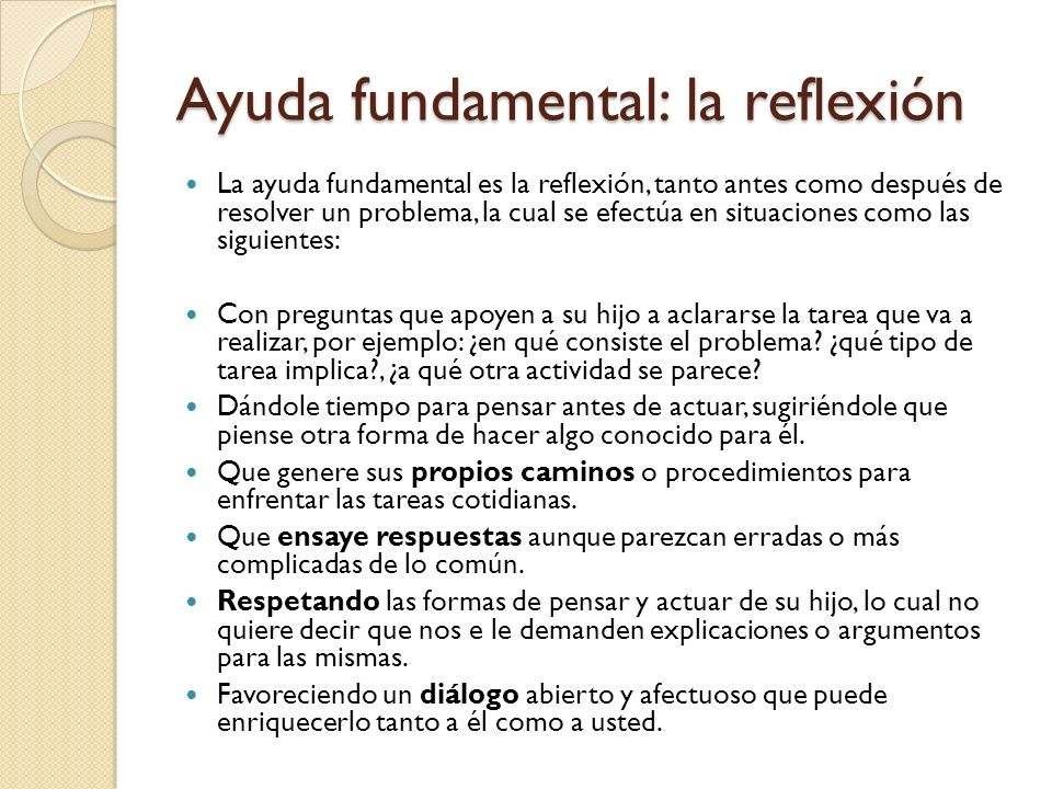 Ayuda fundamental: la reflexión