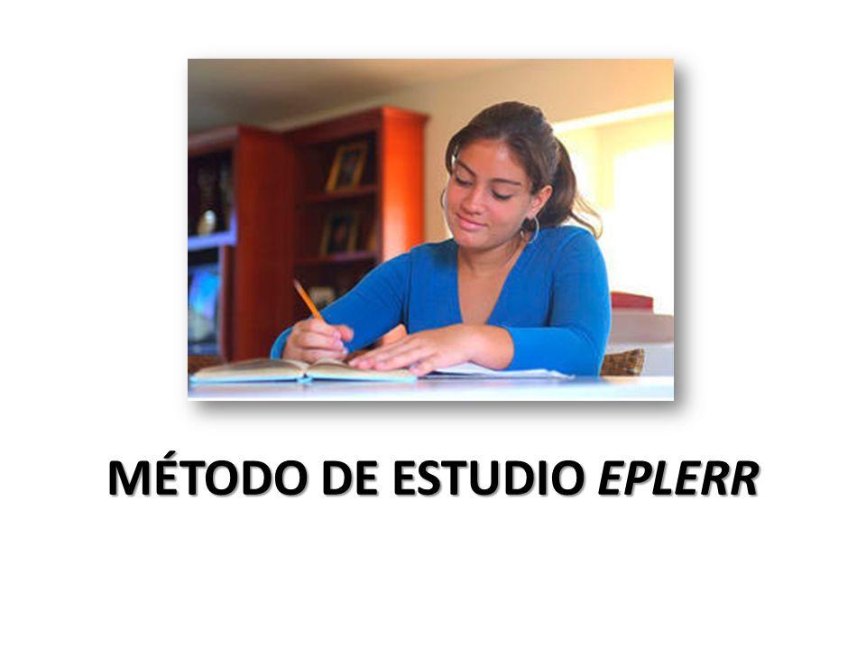 MÉTODO DE ESTUDIO EPLERR