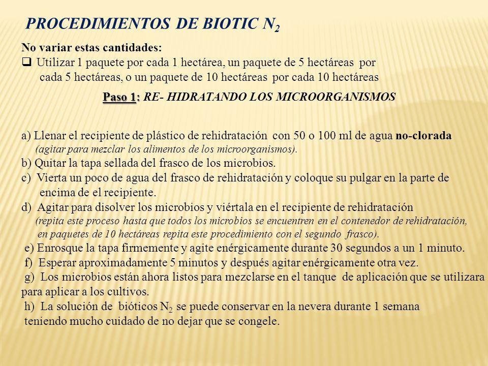 PROCEDIMIENTOS DE BIOTIC N2
