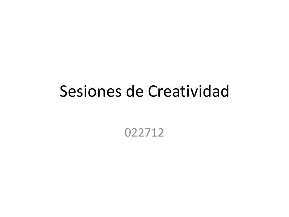 Sesiones de Creatividad