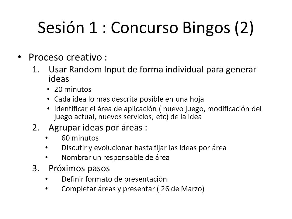 Sesión 1 : Concurso Bingos (2)