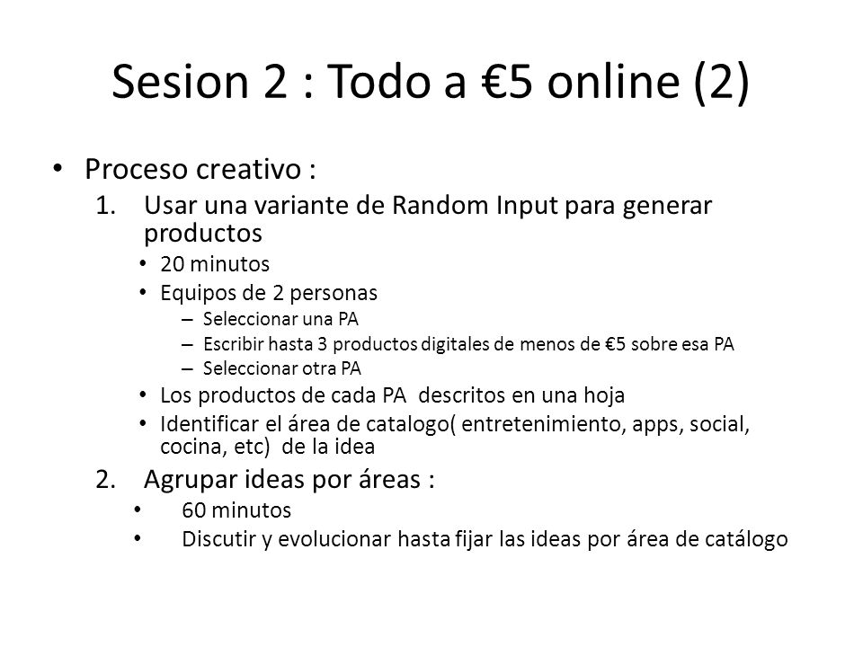Sesion 2 : Todo a €5 online (2)