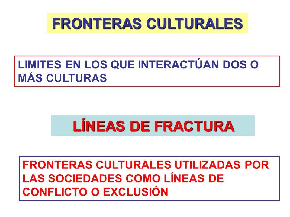 FRONTERAS CULTURALES LÍNEAS DE FRACTURA