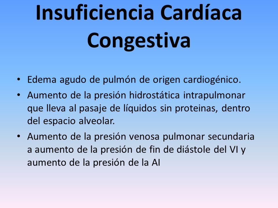 Insuficiencia Cardíaca Congestiva