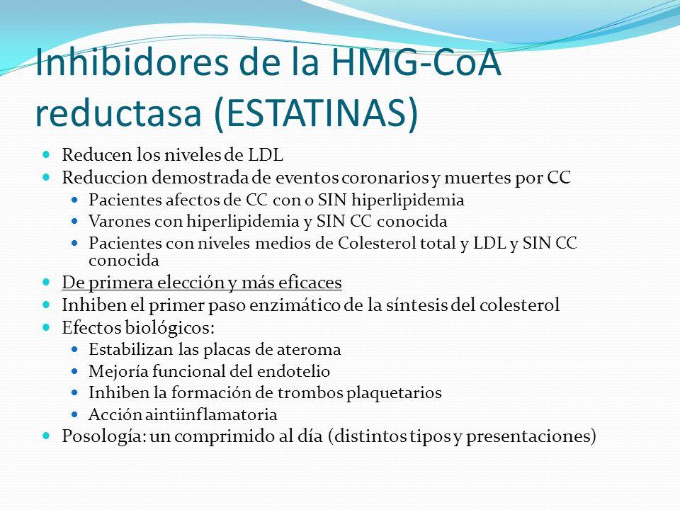 Inhibidores de la HMG-CoA reductasa (ESTATINAS)