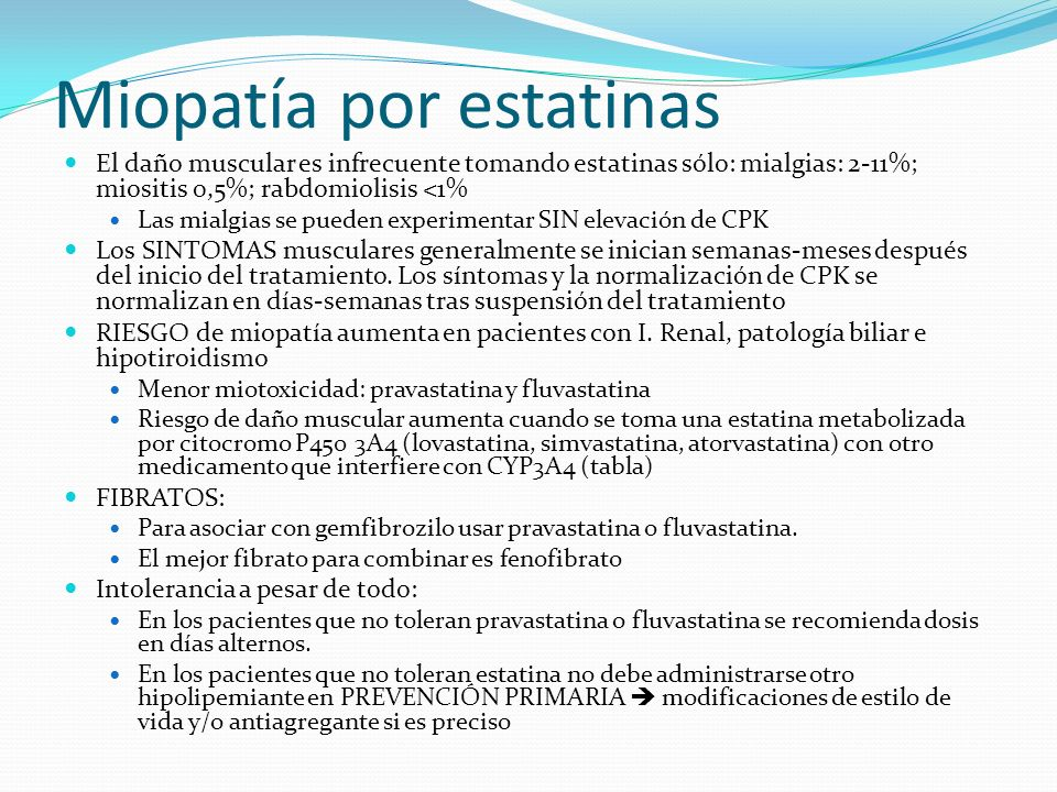Miopatía por estatinas