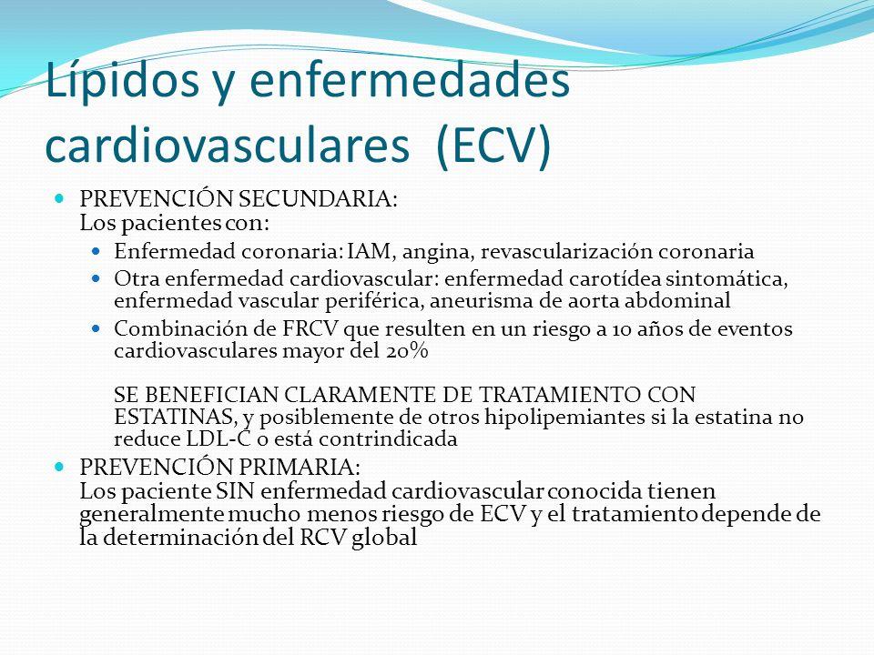 Lípidos y enfermedades cardiovasculares (ECV)