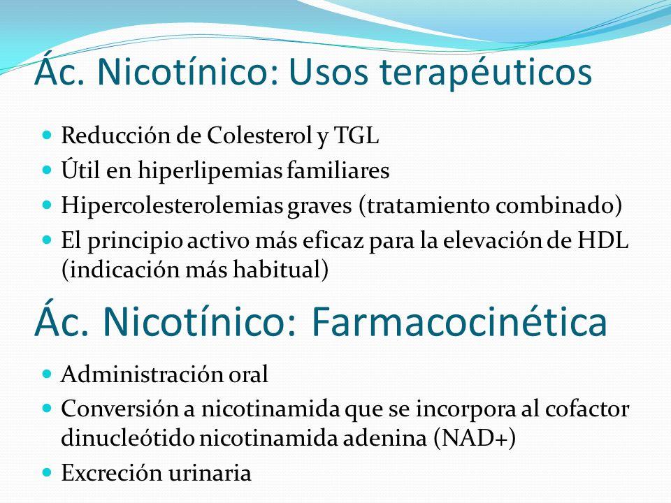 Ác. Nicotínico: Usos terapéuticos