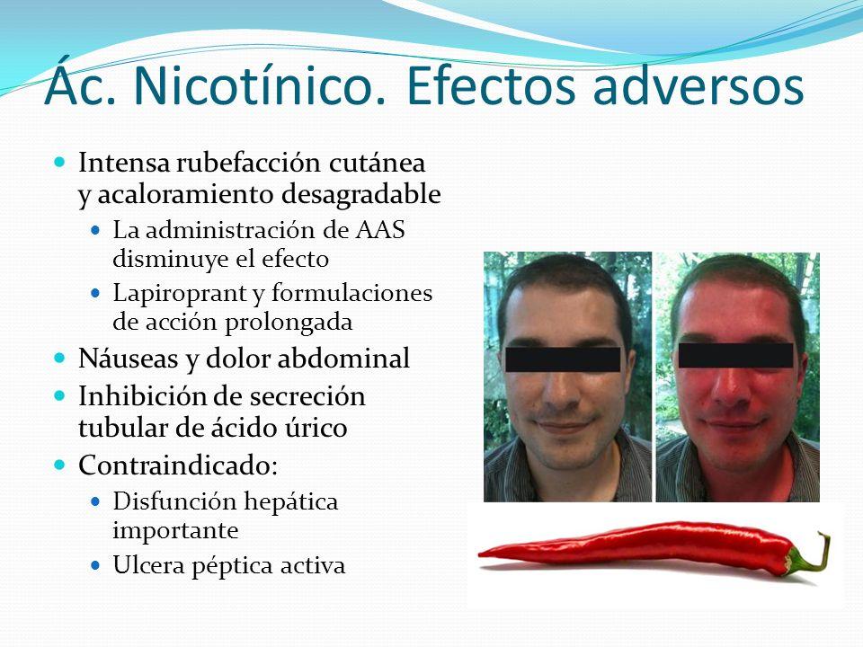 Ác. Nicotínico. Efectos adversos