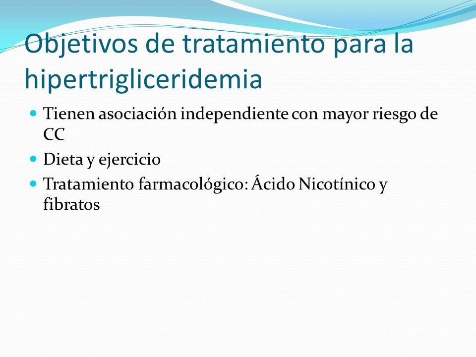Objetivos de tratamiento para la hipertrigliceridemia