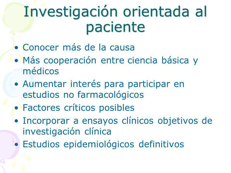 Investigación orientada al paciente