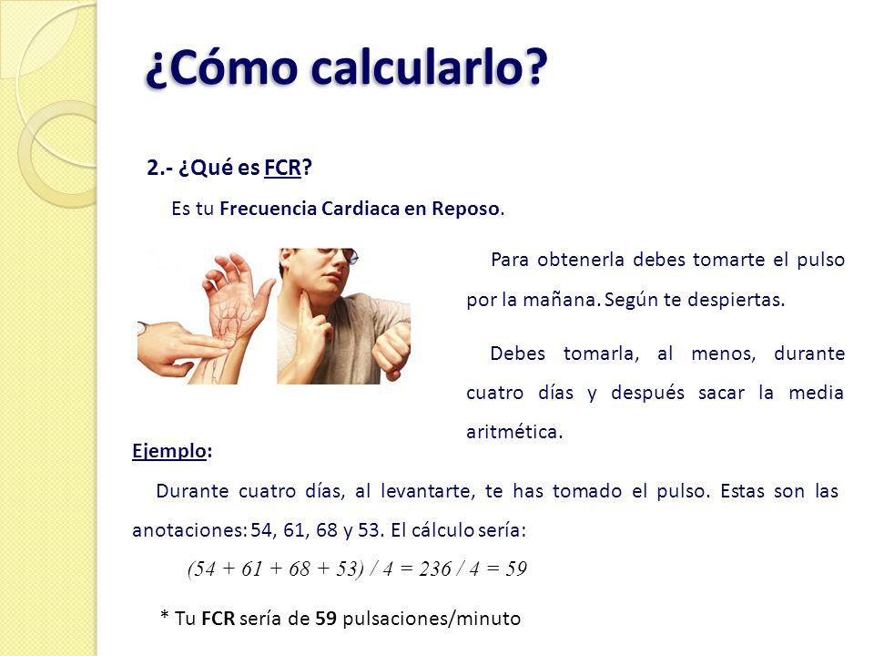 ¿Cómo calcularlo 2.- ¿Qué es FCR