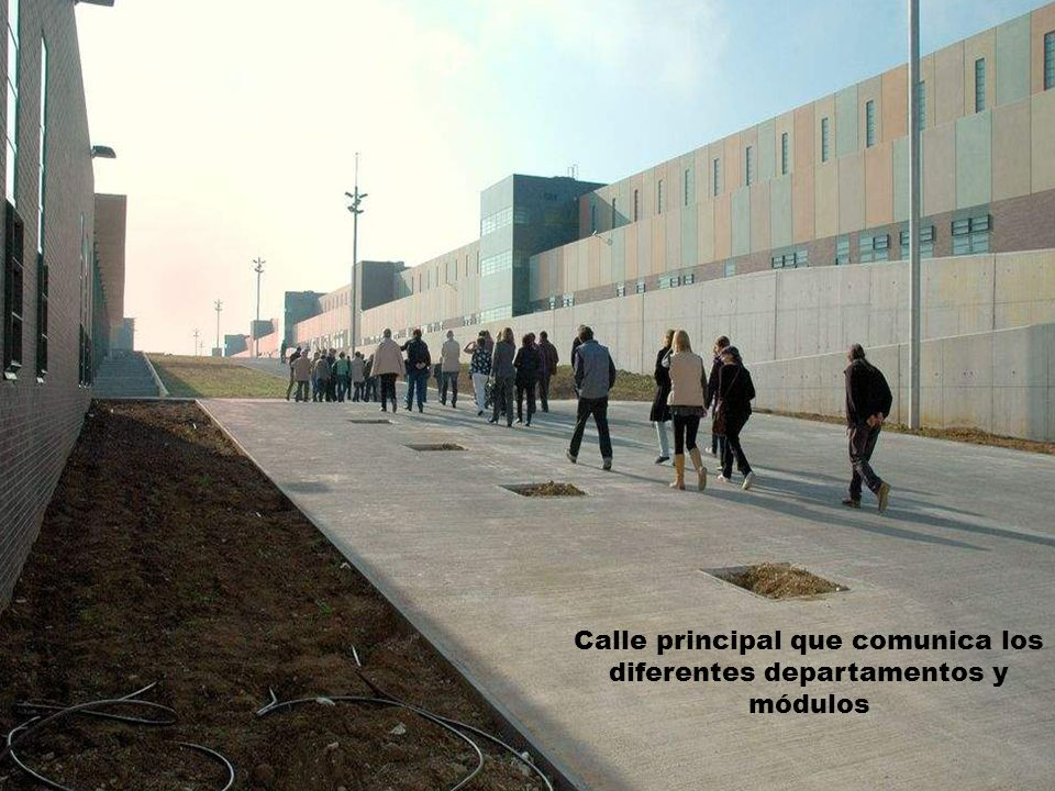 Calle principal que comunica los diferentes departamentos y módulos