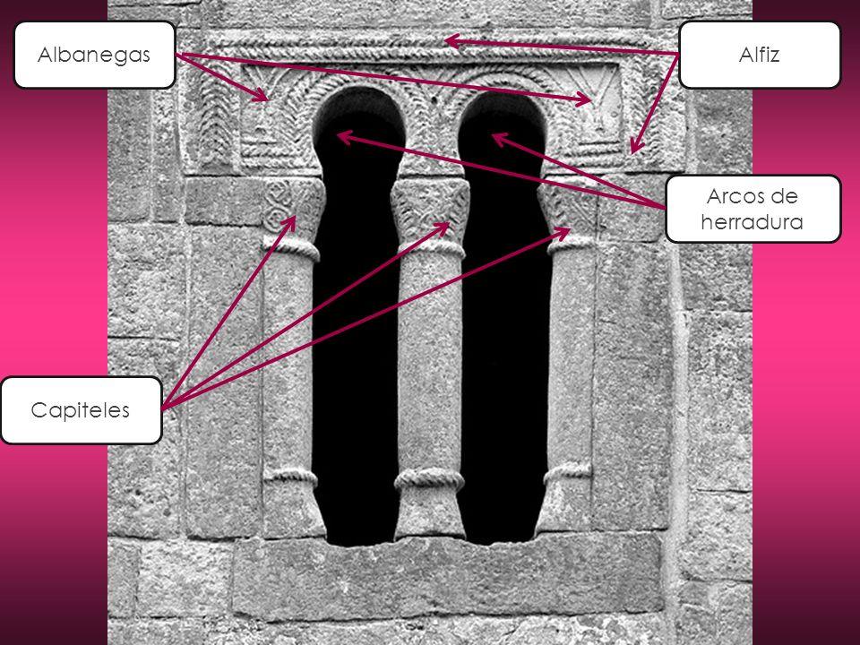 Albanegas Alfiz Arcos de herradura Capiteles