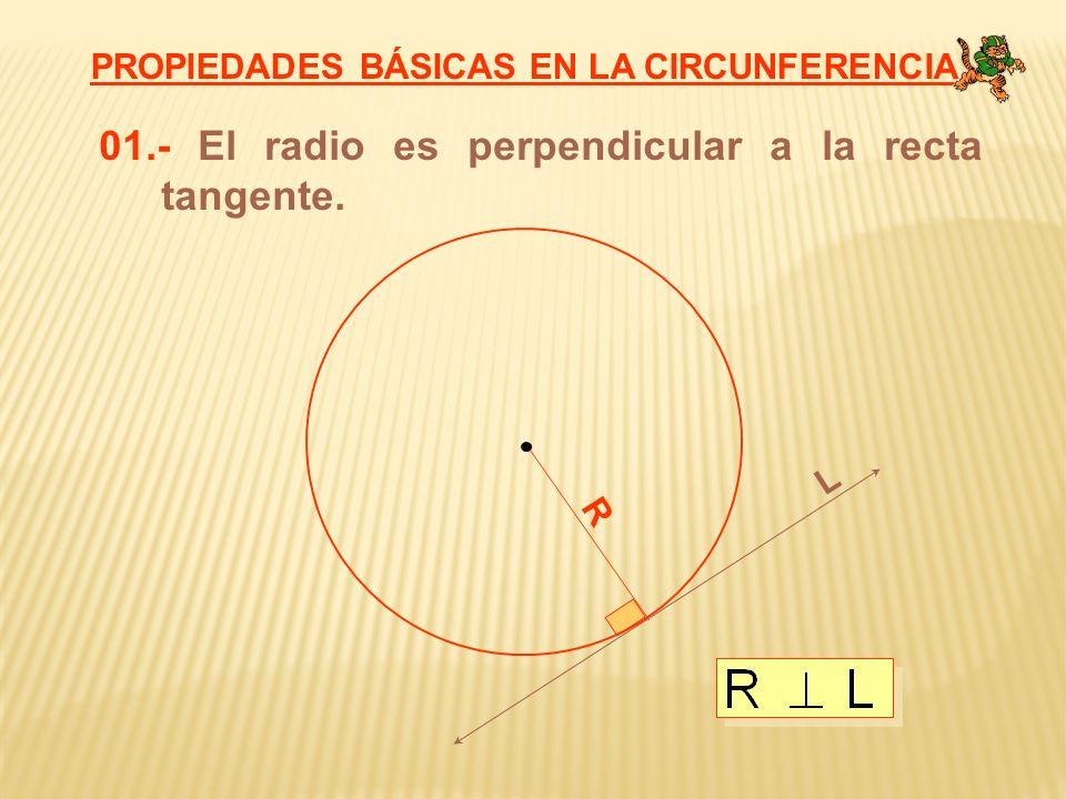 01.- El radio es perpendicular a la recta tangente.