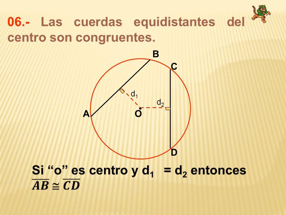 06.- Las cuerdas equidistantes del centro son congruentes.