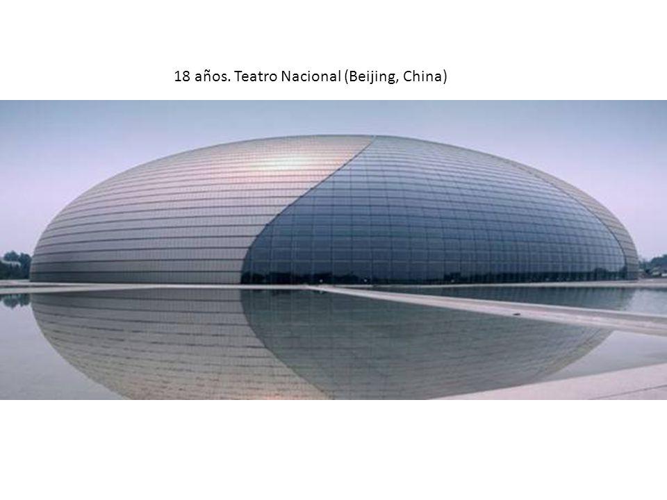 18 años. Teatro Nacional (Beijing, China)