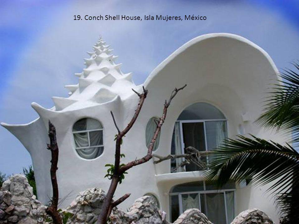 19. Conch Shell House, Isla Mujeres, México