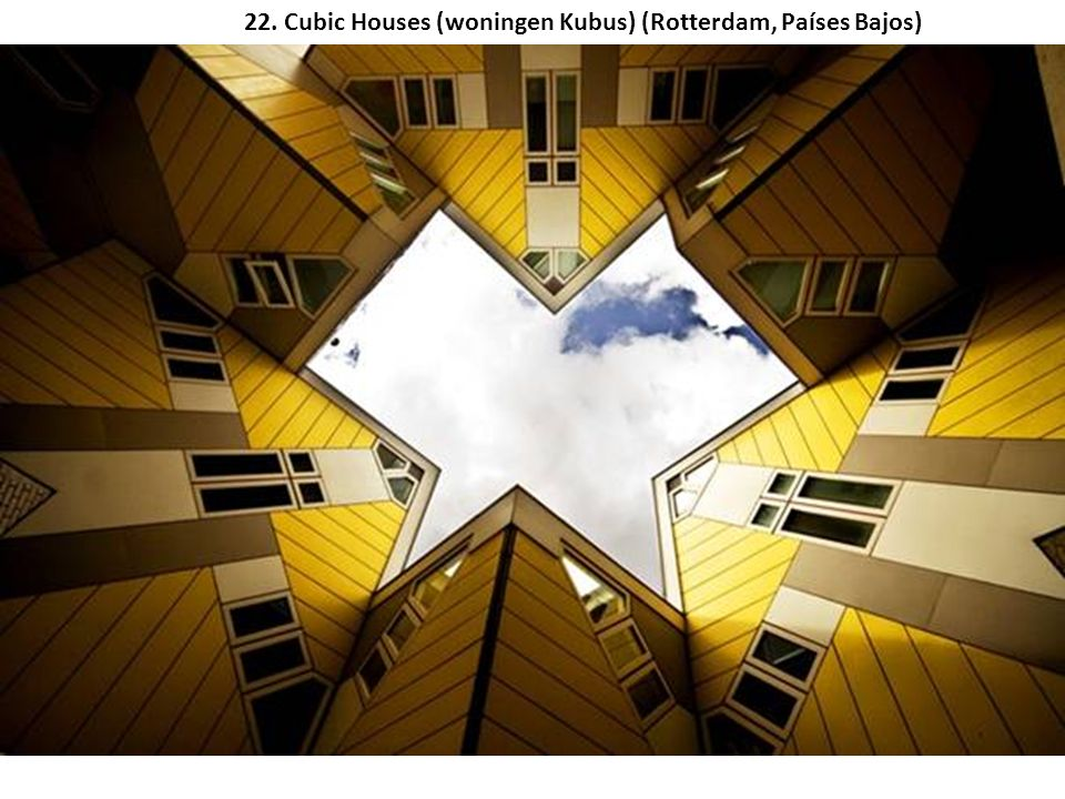 22. Cubic Houses (woningen Kubus) (Rotterdam, Países Bajos)