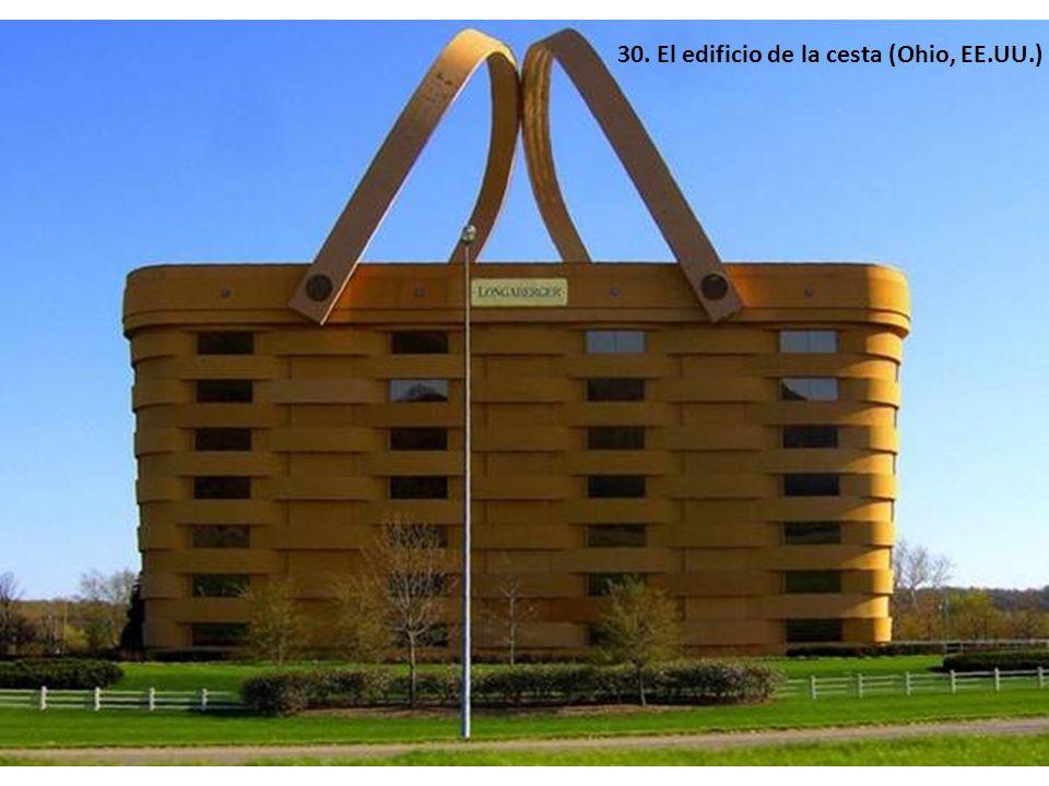 30. El edificio de la cesta (Ohio, EE.UU.)