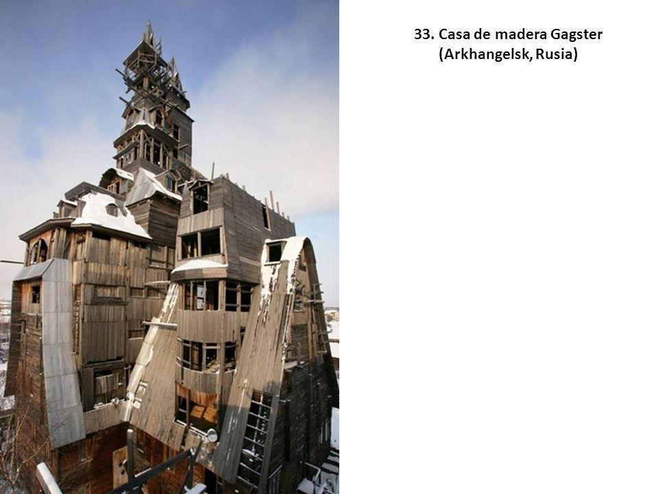 33. Casa de madera Gagster (Arkhangelsk, Rusia)