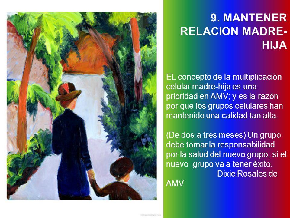 9. MANTENER RELACION MADRE-HIJA