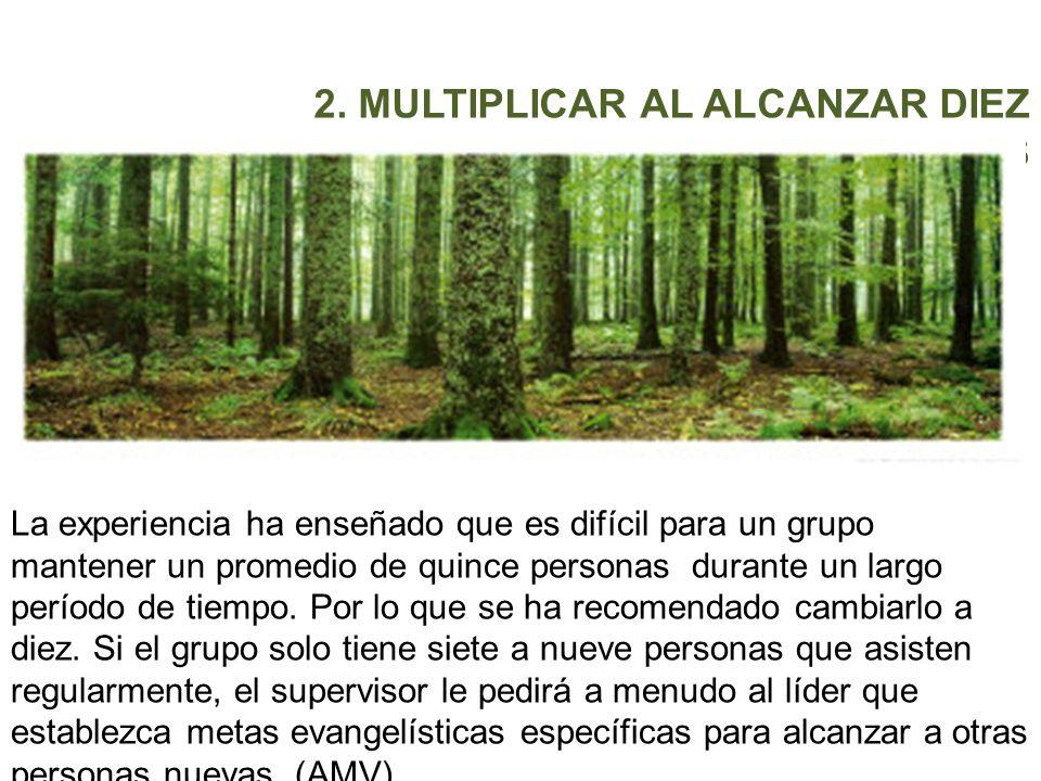 2. MULTIPLICAR AL ALCANZAR DIEZ PERSONAS