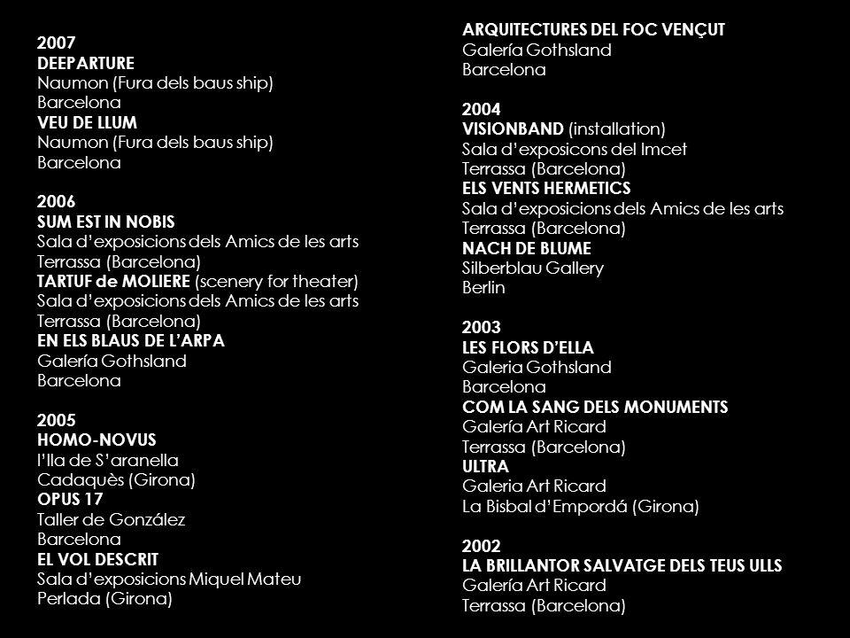 ARQUITECTURES DEL FOC VENÇUT Galería Gothsland Barcelona