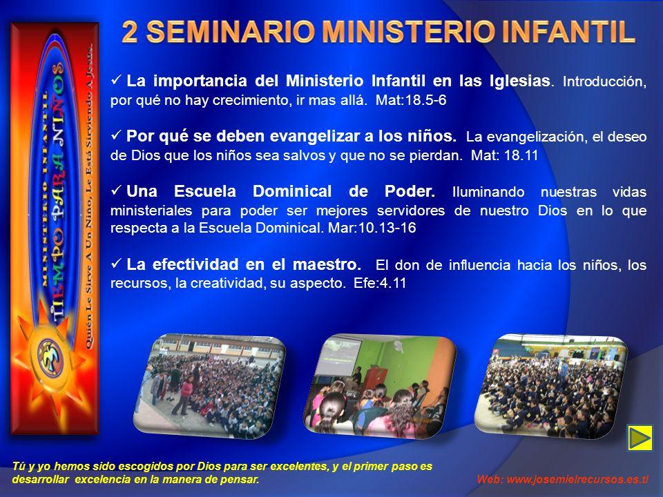 2 SEMINARIO MINISTERIO INFANTIL