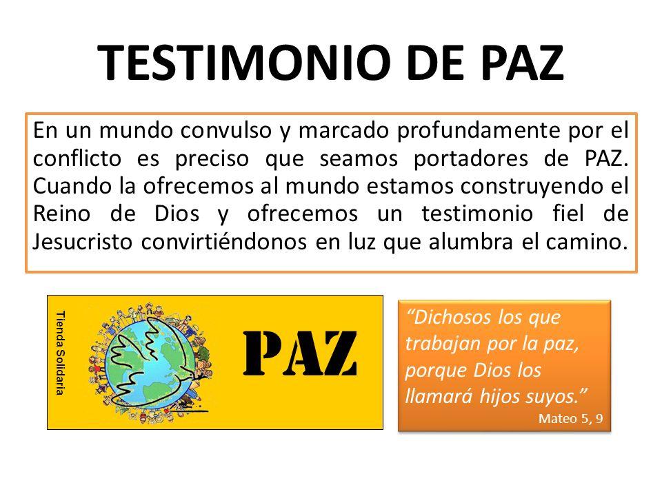 TESTIMONIO DE PAZ