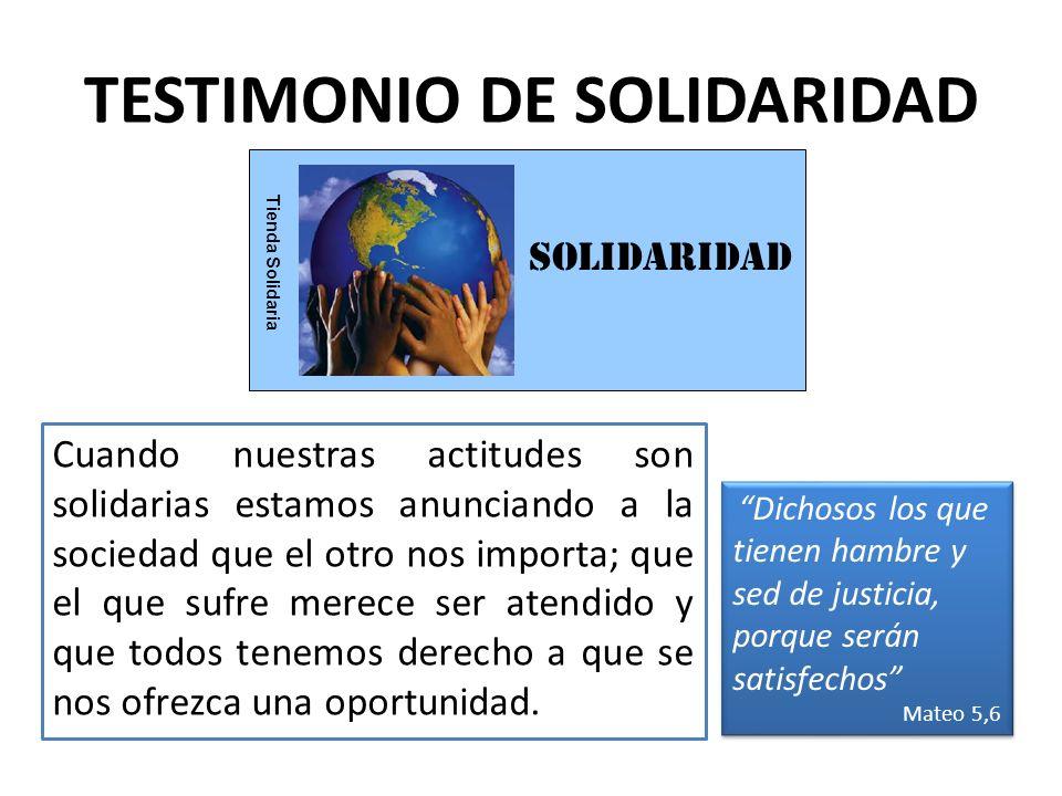 TESTIMONIO DE SOLIDARIDAD