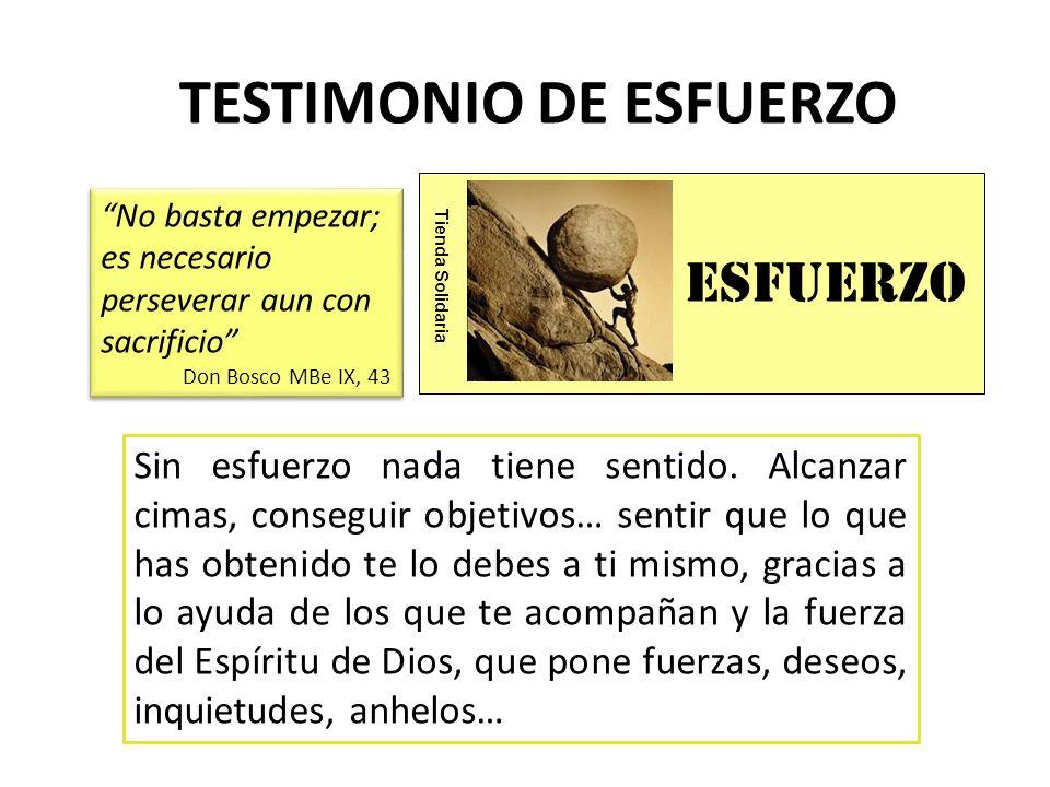 TESTIMONIO DE ESFUERZO