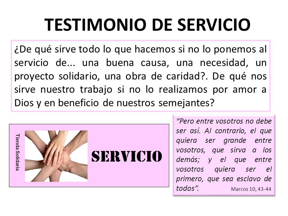 TESTIMONIO DE SERVICIO