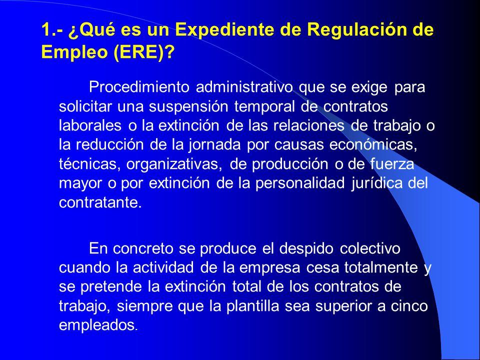 1.- ¿Qué es un Expediente de Regulación de Empleo (ERE)