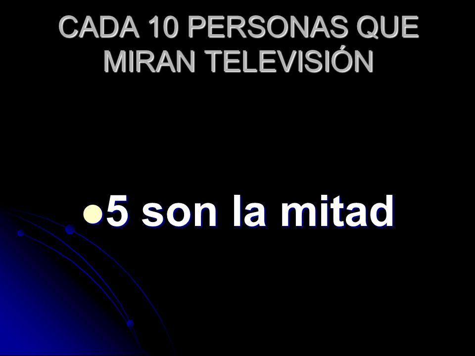 CADA 10 PERSONAS QUE MIRAN TELEVISIÓN