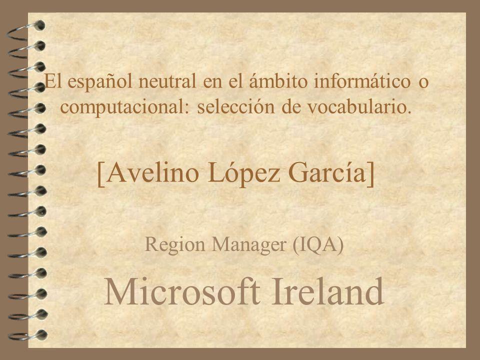 Region Manager (IQA) Microsoft Ireland
