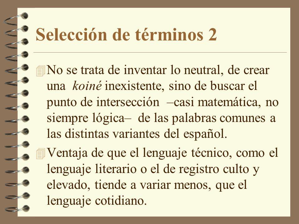 Selección de términos 2