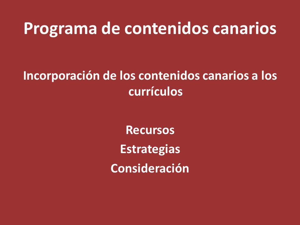 Programa de contenidos canarios