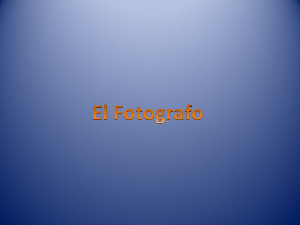 El Fotografo