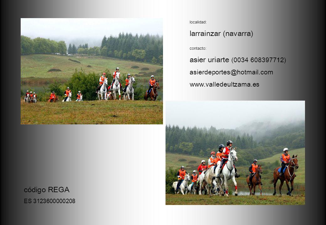 larrainzar (navarra) asier uriarte (0034 608397712) código REGA