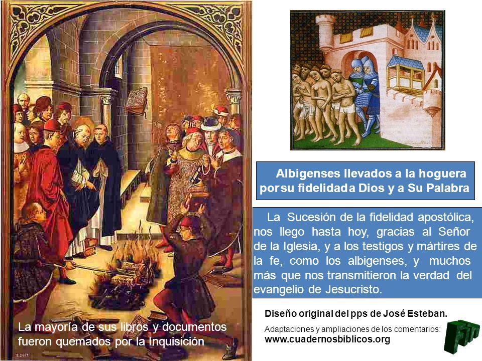 Fin Albigenses llevados a la hoguera