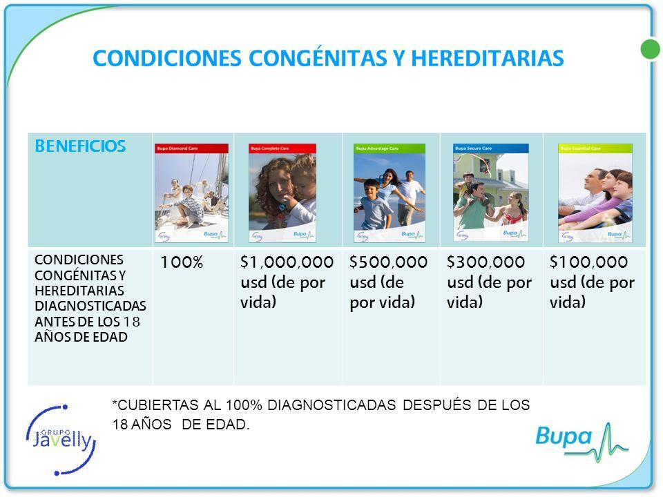 CONDICIONES CONGÉNITAS Y HEREDITARIAS