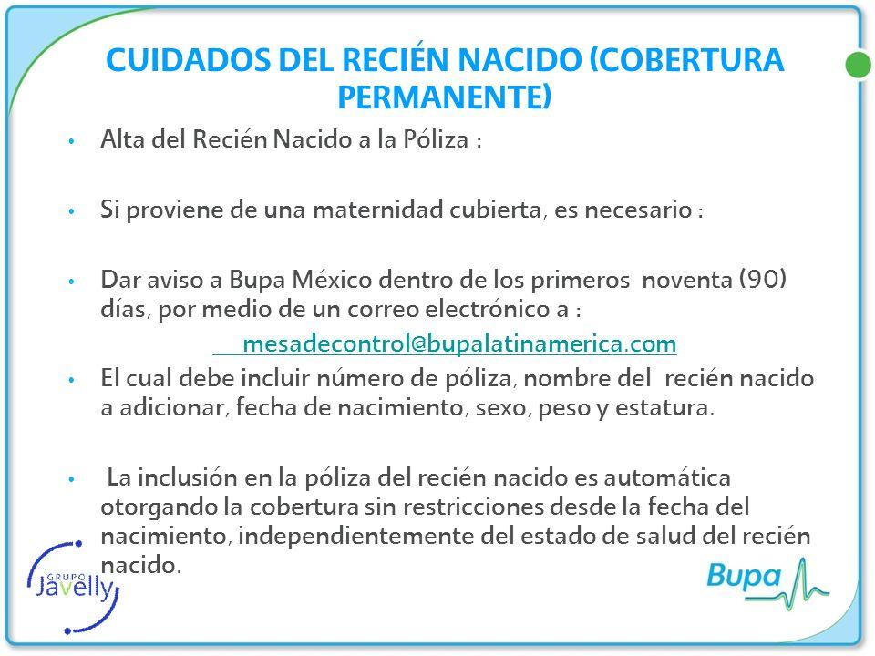 CUIDADOS DEL RECIÉN NACIDO (COBERTURA PERMANENTE)