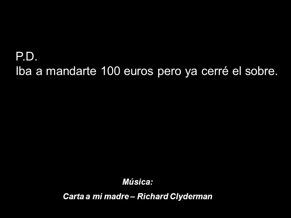 Carta a mi madre – Richard Clyderman