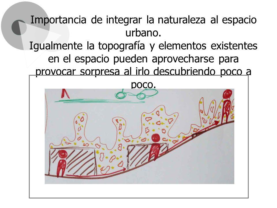 Importancia de integrar la naturaleza al espacio urbano.