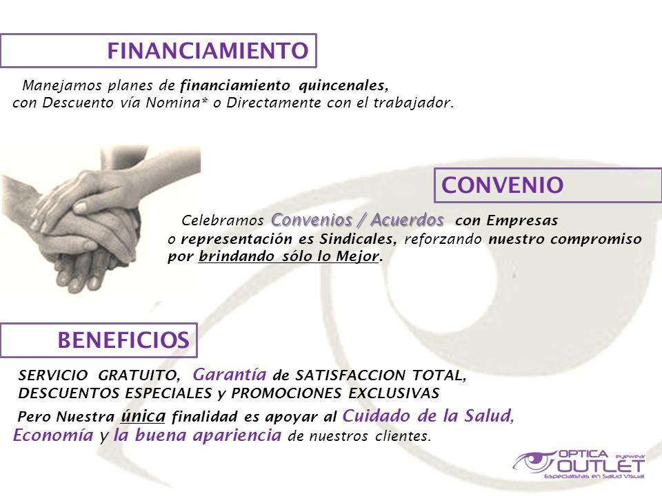 FINANCIAMIENTO CONVENIO BENEFICIOS