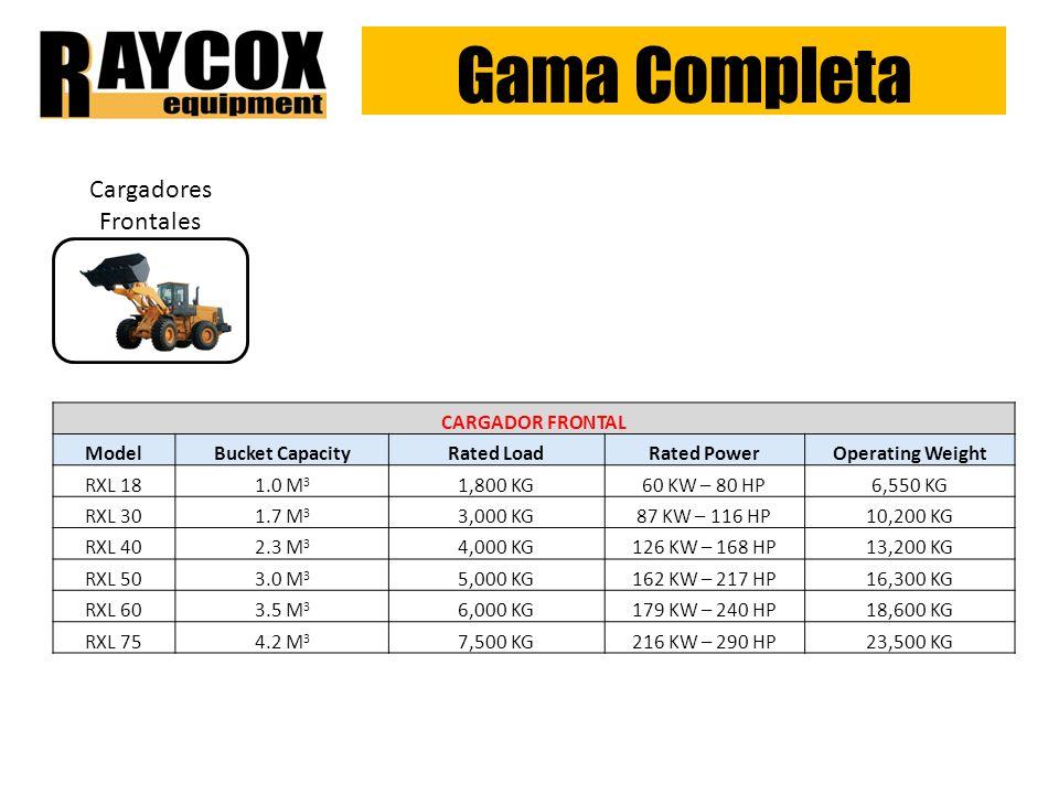 Gama Completa Cargadores Frontales CARGADOR FRONTAL Model