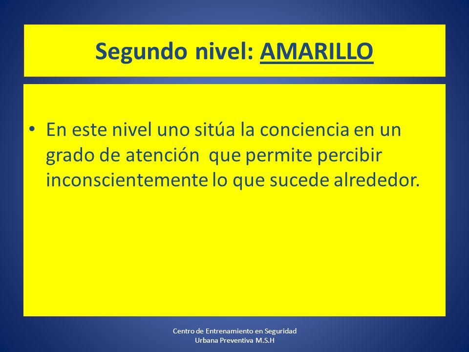 Segundo nivel: AMARILLO
